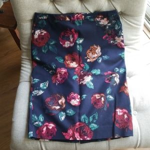 Merona Floral Pencil Skirt
